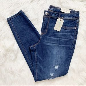 NWT Maurices Distressed Skinny Jeans